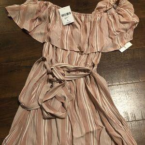 Off the shoulder pink never worn dress!